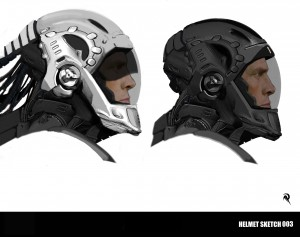 Skizze eines UEE Helms