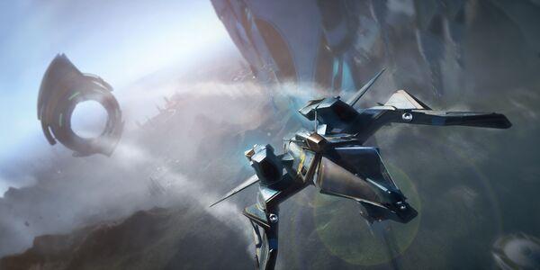 Bild des Raumschiffs Mustang Beta