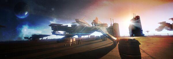 Bild des Raumschiffs Mustang Gamma