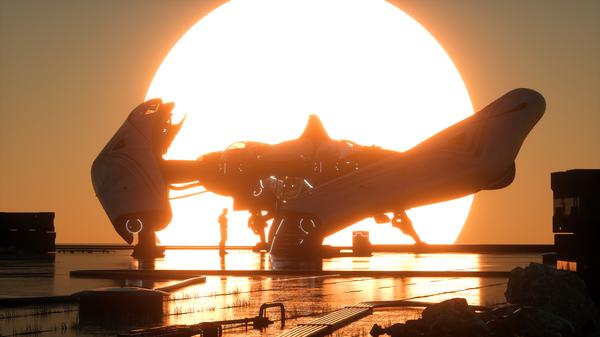 Bild des Raumschiffs Defender