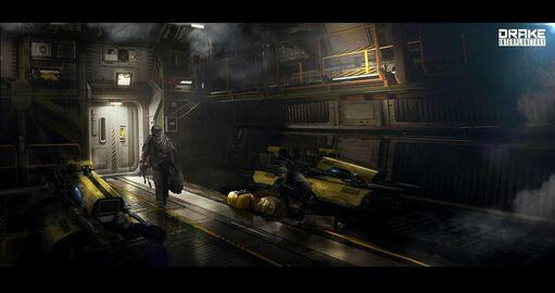 DRAK Dragonfly Yellowjacket gelandet in Raumschiff.jpg