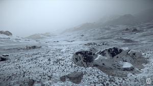Oberfläche des Mondes Calliope