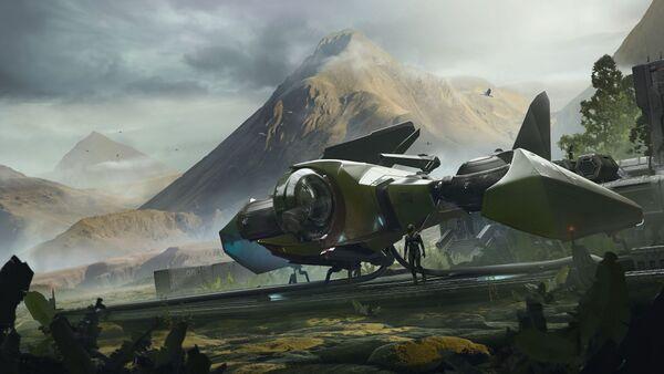 Bild des Raumschiffs San'tok.yāi