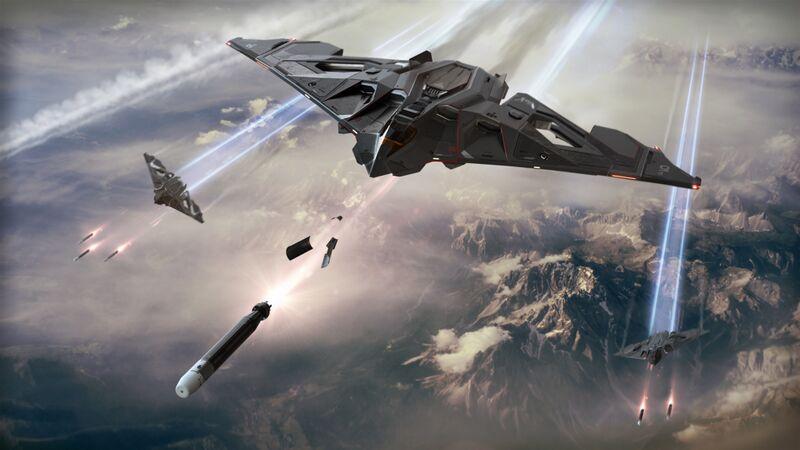 Aegis Dynamics Eclipse während eines Torpedoabschuss