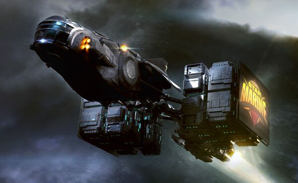 Bild des Raumschiffs Hull A