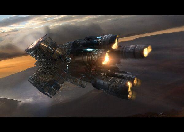 Bild des Raumschiffs Hull D