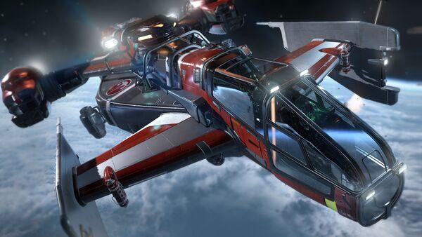 Bild des Raumschiffs Cutlass Red