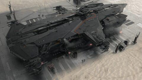 AEGS Hammerhead Gelandet auf Planeten.jpg
