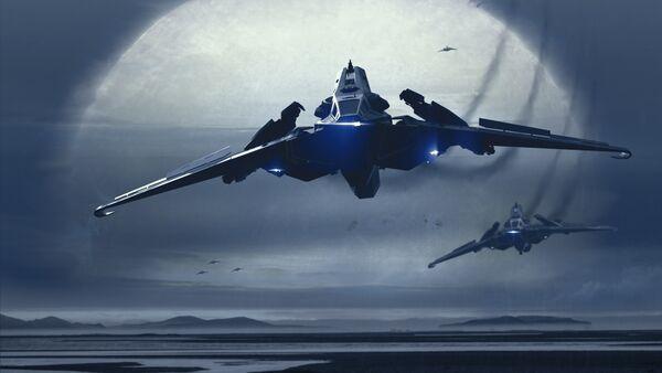 Bild des Raumschiffs Hawk
