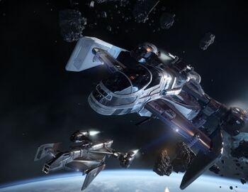 Bild des Raumschiffs Cutlass Blue