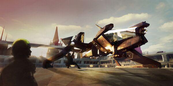 Bild des Raumschiffs Mustang Alpha