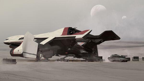 Bild des Raumschiffs C2 Hercules
