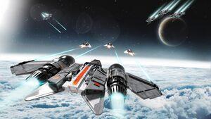 DRAK Buccaneer im Gefecht im Weltraum.jpg