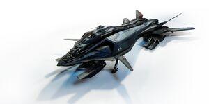 AEGS Retaliator Bomber Frontansicht links Vogelperspektive.jpg